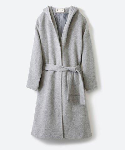 【haco!(ハコ)】MADE IN JAPAN生地を使用した大人フーディーロングコート