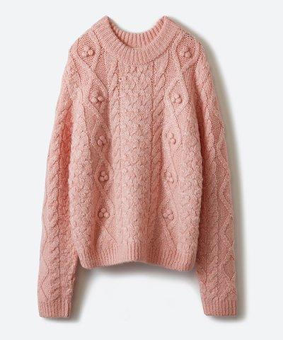 【haco!(ハコ)】【mer12月号掲載】古着屋さんで見つけたようなもっふりケーブル編みセーター