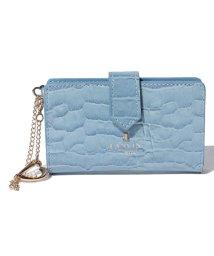 LANVIN en Bleu/マゼンダ カードケース 481683/LB0004335