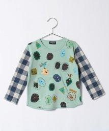 kladskap/cb時計の王様総柄長袖Tシャツ/500535270