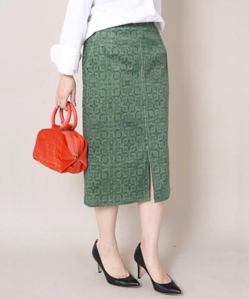 SHIPS WOMEN(シップス ウィメン)/Prefer SHIPS:プリントコーデュロイタイトスカート◇/313250264