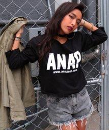 ANAP/ANAPロゴロングTシャツ/500544800