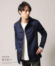 THE CASUAL/メンズ コート メンズファッション 秋 春 ストレッチ サテン ツイル ショールカラー コート SPU スプ ミドル丈/500563485