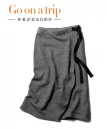 JIYU-KU /【亜希さん着用】ヘリンボーンジャガード ニットスカート (検索番号T28)/500568468