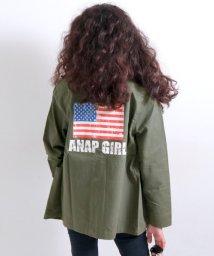 ANAP GiRL/バック星条旗ミリタリーコート/500544837
