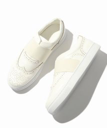ivory court/IN RIB BROGUE SNEAKER/500571732