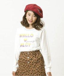 ALGY/ぷっくり刺繍トレーナー/500567877