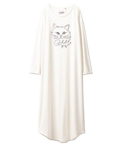 【gelato pique(ジェラートピケ)】スターキャットロングスリーブドレス