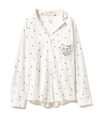 【gelato pique(ジェラートピケ)】スターキャットシャツ
