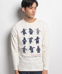 JNSJNM/【BLUE STANDARD】ペンギン柄プリントロングスリーブTシャツ/500543180