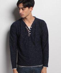 JNSJNM/【BLUE STANDARD】ネックデザインTシャツ/500544449