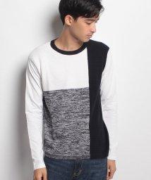 JNSJNM/【BLUE STANDARD】前身ニットデザインTシャツ/500544696