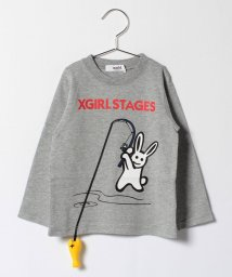 X-girl Stages/フィッシングラビットTシャツ/500557911