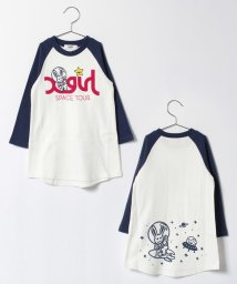 X-girl Stages/スペースラグランスリーブTシャツ/500557918