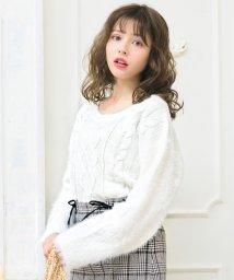 INGNI/袖ファーケーブル/ニット/500559627