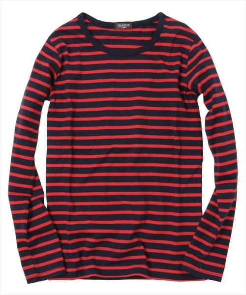 GLAZOS(グラソス)/ボーダー長袖Tシャツ/gl1002