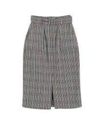 titivate/バックルベルト付きチェックタイトスカート/500575118