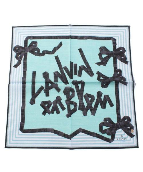 LANVIN en Bleu(ランバンオンブルー)/プリントハンカチ 17301014/3798008