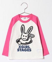 X-girl Stages/キラッキー Hello! ベースボール長袖Tシャツ/500557910