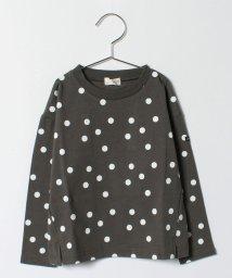b-ROOM/ドット総柄Tシャツ/500557982