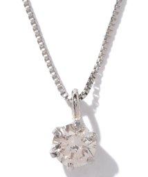 JEWELRY SELECTION/天然ダイヤモンド 0.1ct VSクラス 6本爪ネックレス 鑑定書付 ベネチアン40cm/500577007