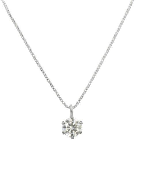 JEWELRY SELECTION(ジュエリーセレクション)/天然ダイヤモンド 0.2ct VSクラス 6本爪ネックレス 鑑定書付 ベネチアン40cm/NSII02CTVSBN40PT