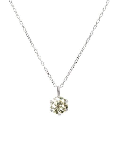 JEWELRY SELECTION(ジュエリーセレクション)/天然ダイヤモンド 0.3ct SIクラス ネックレス 鑑定書付 K18WG あずき40cm/NSII03CTSIA40K18WG