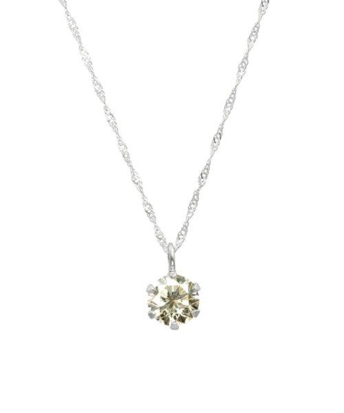 JEWELRY SELECTION(ジュエリーセレクション)/天然ダイヤモンド 0.3ct SIクラス ネックレス 鑑定書付 K18WG スクリュー42cm/NSII03CTSIS42K18WG