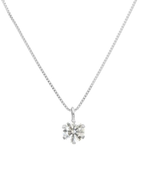JEWELRY SELECTION(ジュエリーセレクション)/天然ダイヤモンド 0.3ct VSクラス 6本爪ネックレス 鑑定書付 ベネチアン40cm/NSII03CTVSBN40PT