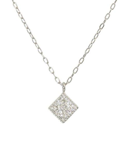 JEWELRY SELECTION(ジュエリーセレクション)/天然ダイヤモンド 5石 プラチナ ネックレス 菱形/NSUZ12204005CTA40PT