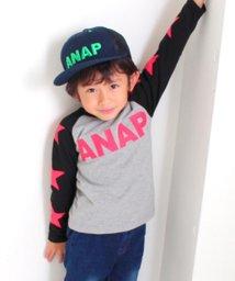 ANAP KIDS/星ラグランロングTシャツ/500563959