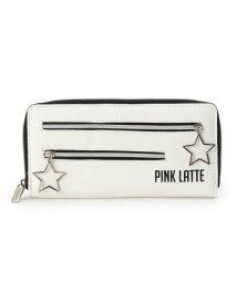 PINK-latte/レザー調スターチャームファスナー長財布/500578930