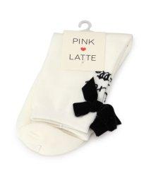 PINK-latte/ベロアリボンソックス/500581539