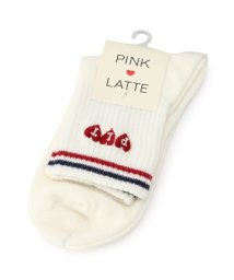 PINK-latte/秋色ラインソックス/500581541