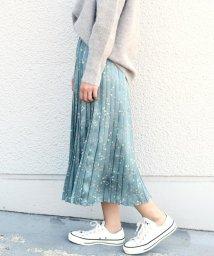 SHIPS WOMEN/フラワープリントプリーツスカート◇/500583343