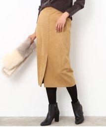 ROPE'/【Oggi12月号掲載】スエード調フロントスリットタイトスカート/500583705