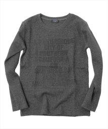 GLAZOS/ダブルフェイス・メッセージデザイン長袖Tシャツ/500582406
