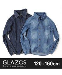 GLAZOS/ダンガリー長袖シャツ/500582410