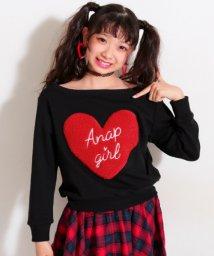 ANAP GiRL/ハートボアオフショルトップス/500573254