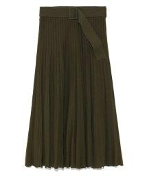 Mila Owen/ベルト付プリーツニットスカート/500584094