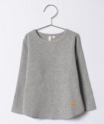 LAGOM/ラクダ刺繍ワッフル長袖Tシャツ/500570041