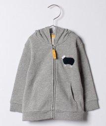 LAGOM/ひつじ刺繍ジップパーカー/500570044