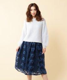 MIIA/ニット刺繍フレアスカート/500582357