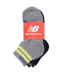 New Balance/ニューバランス/キッズ/ジュニア3Pソックスショートレングスボーイズ/500584937