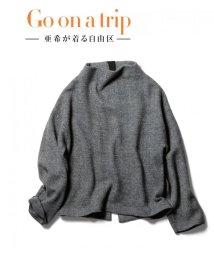 JIYU-KU /【亜希さん着用】ヘリンボーンジャガードニットプルオーバー (検索番号T27)/500585789