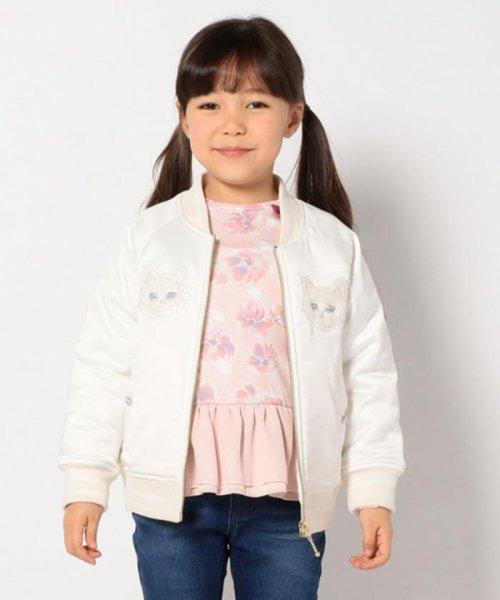 anyFAM(KIDS)(エニファム(キッズ))/【KIDS】ねこモチーフサテン スタジャン/JRFKHW0425