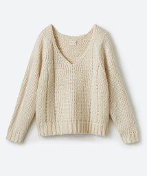 haco!/【mer1月号掲載】さりげなく女っぽい 手編み風ざっくりニット/500579154