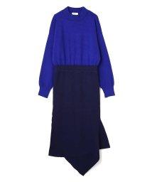 PROPORTION BODY DRESSING/《BLANCHIC》ツートンニットワンピース/500586335