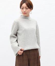 ROPE' mademoiselle/ウールカシミヤワイドリブニット/500574949