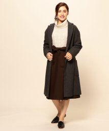 J.PRESS LADIES(LARGE SIZE)/LAMBSWOOL チェスターコート/500590037